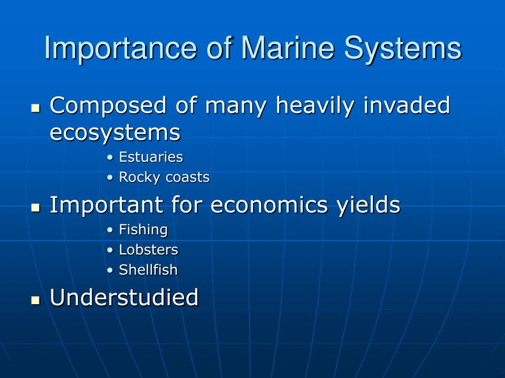 Importance of Marine Systems