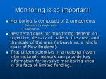 monitoring is so important
