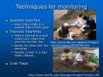 techniques for monitoring