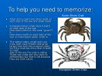 to help you need to memorize