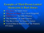 examples of third person limited omniscient in short stories