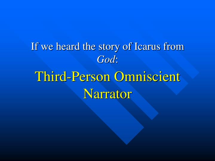if we heard the story of icarus from god