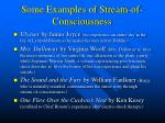 some examples of stream of consciousness