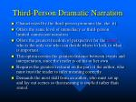 third person dramatic narration