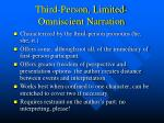 third person limited omniscient narration