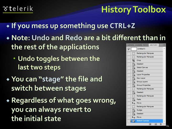 History Toolbox
