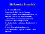 biosecurity essentials