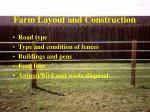 farm layout and construction
