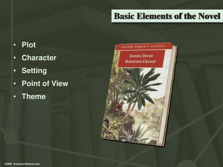Basic Elements of the Novel