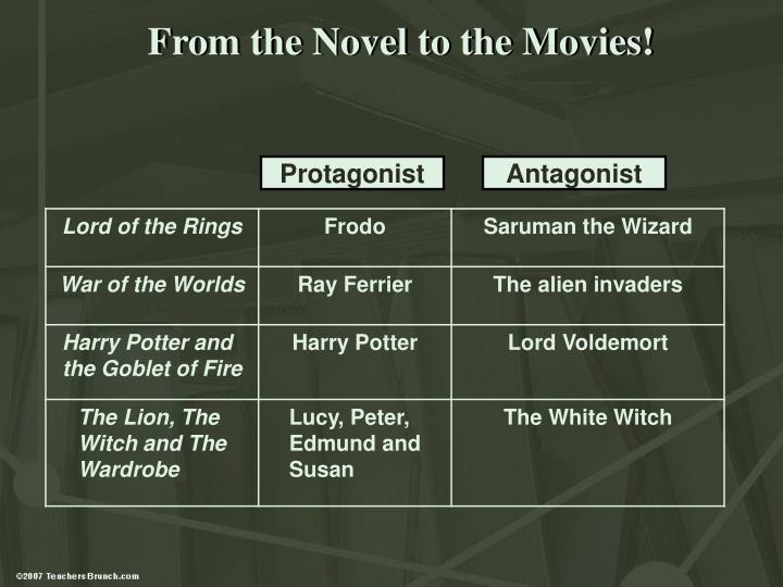 From the Novel to the Movies!