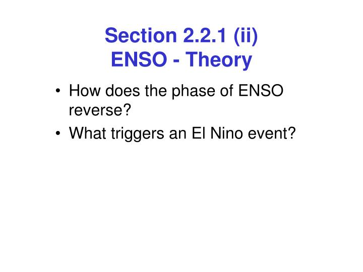 section 2 2 1 ii enso theory n.