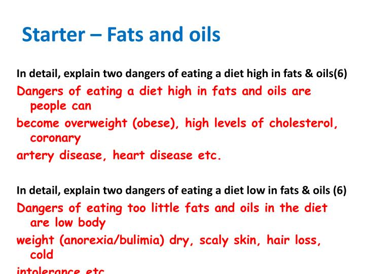 Starter – Fats and oils