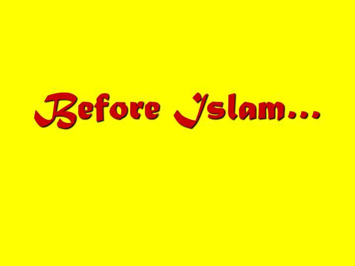Before islam