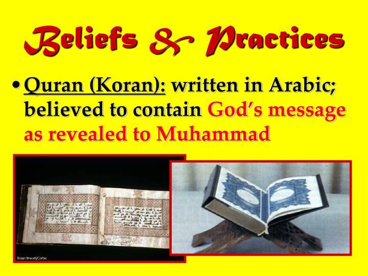 Beliefs & Practices
