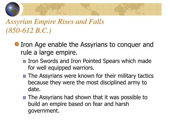 Assyrian Empire Rises and Falls