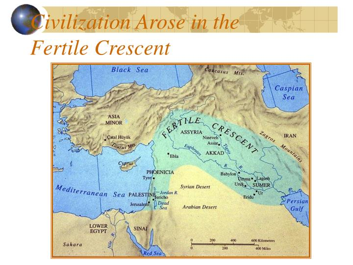 Civilization arose in the fertile crescent