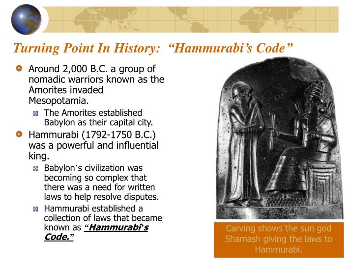 "Turning Point In History:  ""Hammurabi's Code"""