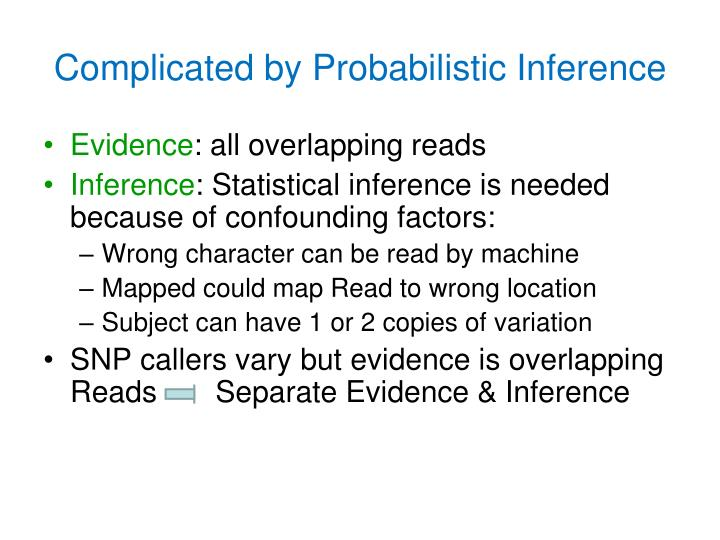Complicated by Probabilistic Inference
