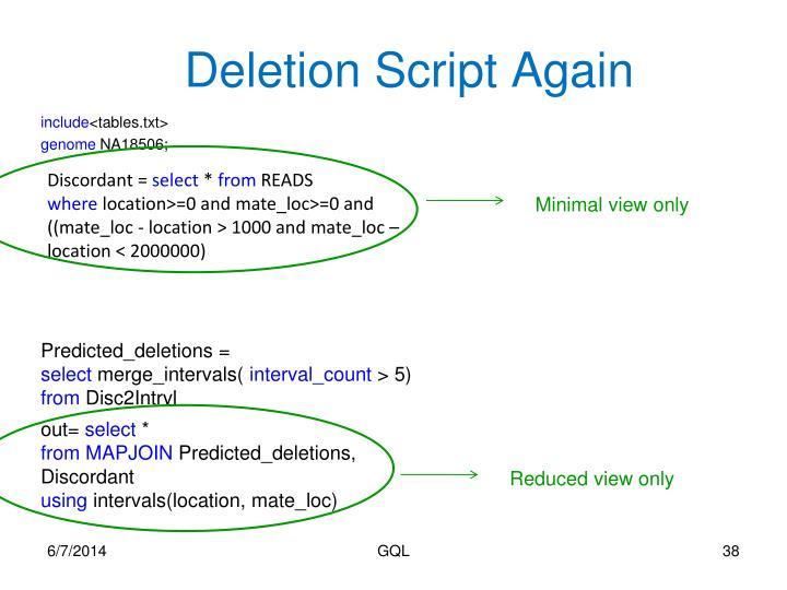 Deletion Script Again