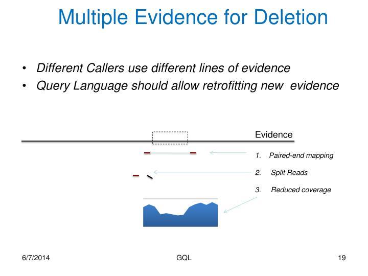 Multiple Evidence for Deletion