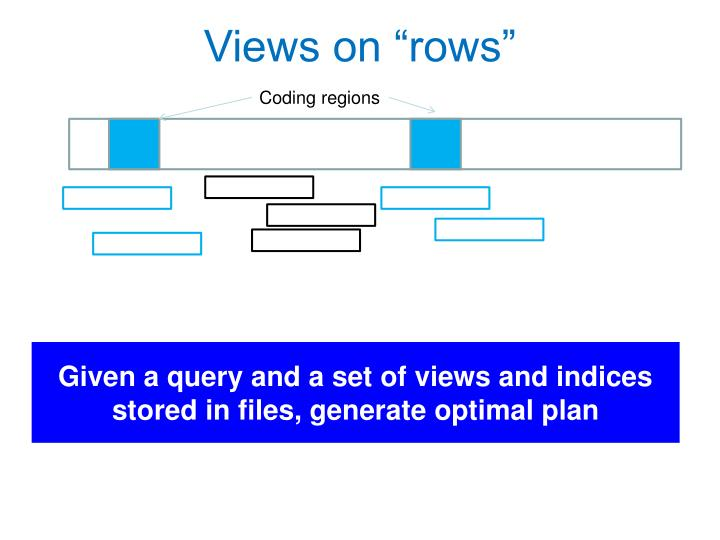"""Views on """"rows"""""""
