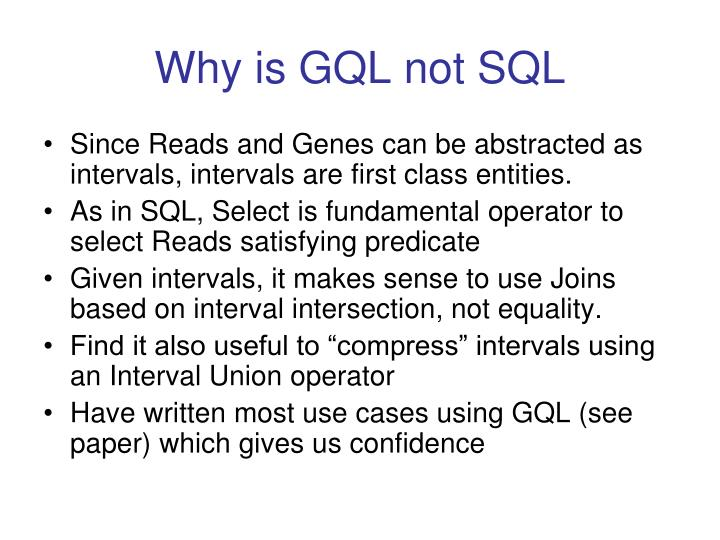 Why is GQL not SQL