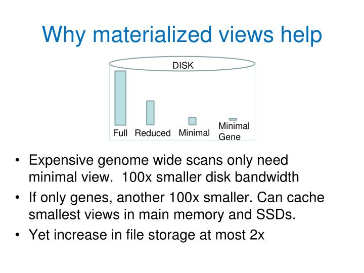 Why materialized views help