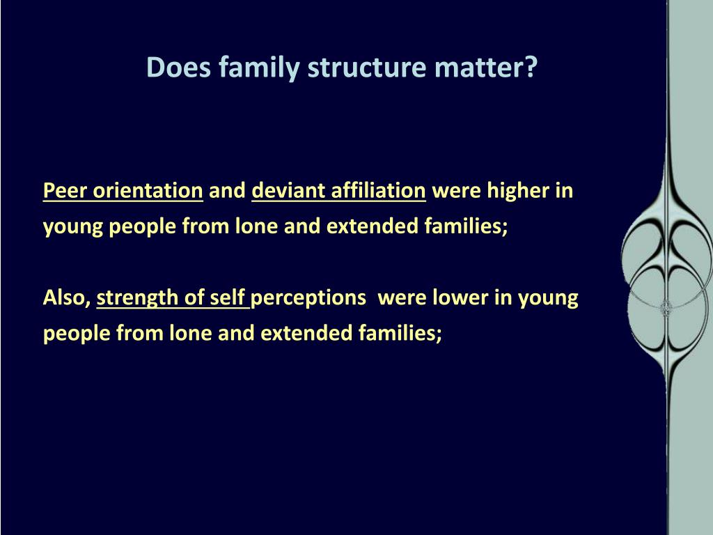 Does family structure matter?