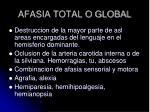 afasia total o global
