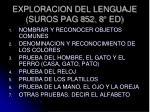 exploracion del lenguaje suros pag 852 8 ed