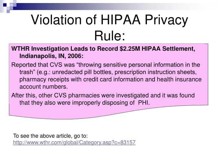 essays on hipaa violations Cheap custom essay writing services question description hipaa violations and enforcement failure to comply with hipaa can result in.