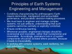 principles of earth systems engineering and management1