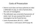 costs of prosecution