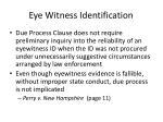 eye witness identification