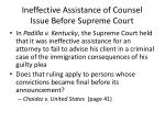 ineffective assistance of counsel issue before supreme court