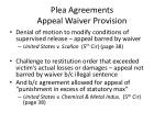 plea agreements appeal waiver provision