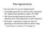 plea agreements