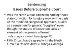 sentencing issues before supreme court