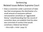 sentencing related issues before supreme court