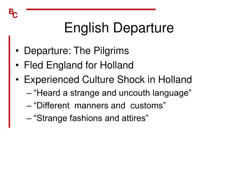 English Departure