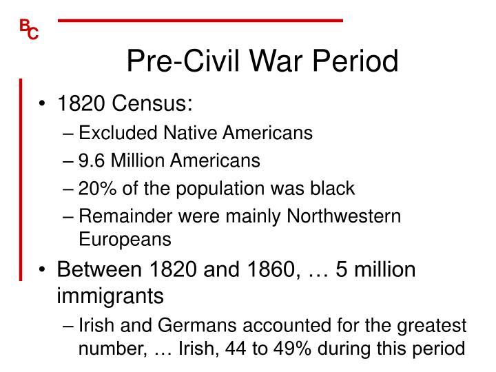 Pre-Civil War Period