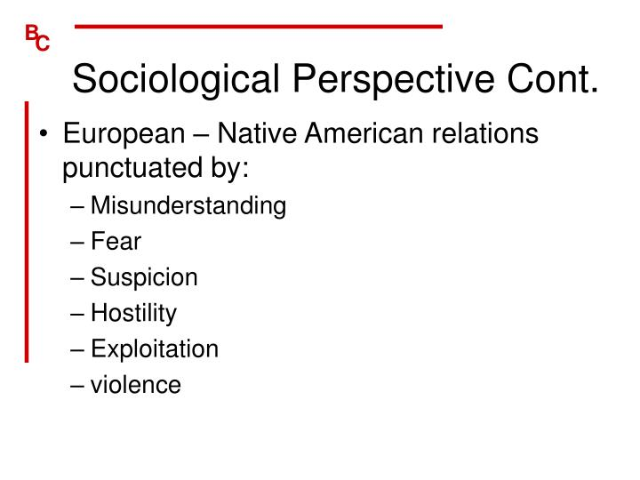 Sociological perspective cont