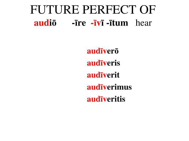 FUTURE PERFECT OF