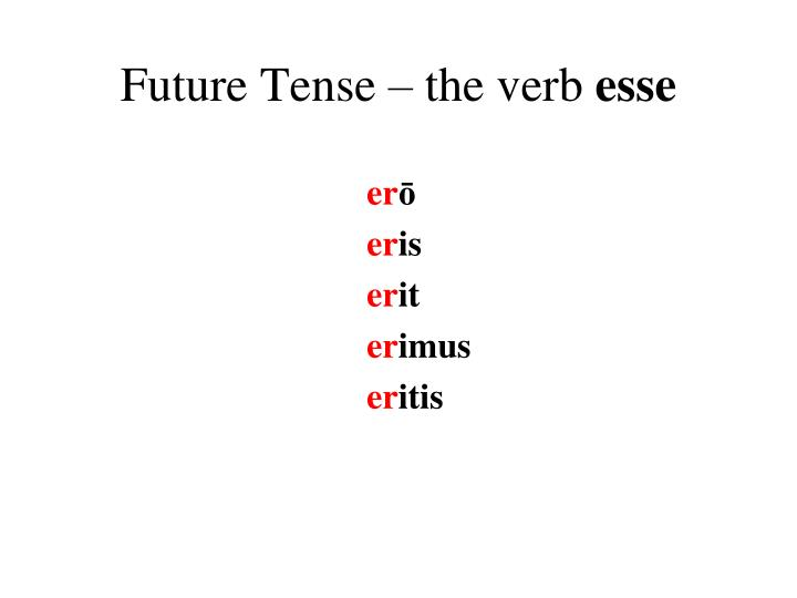 Future Tense – the verb