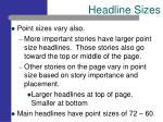 headline sizes13