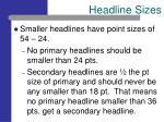 headline sizes14