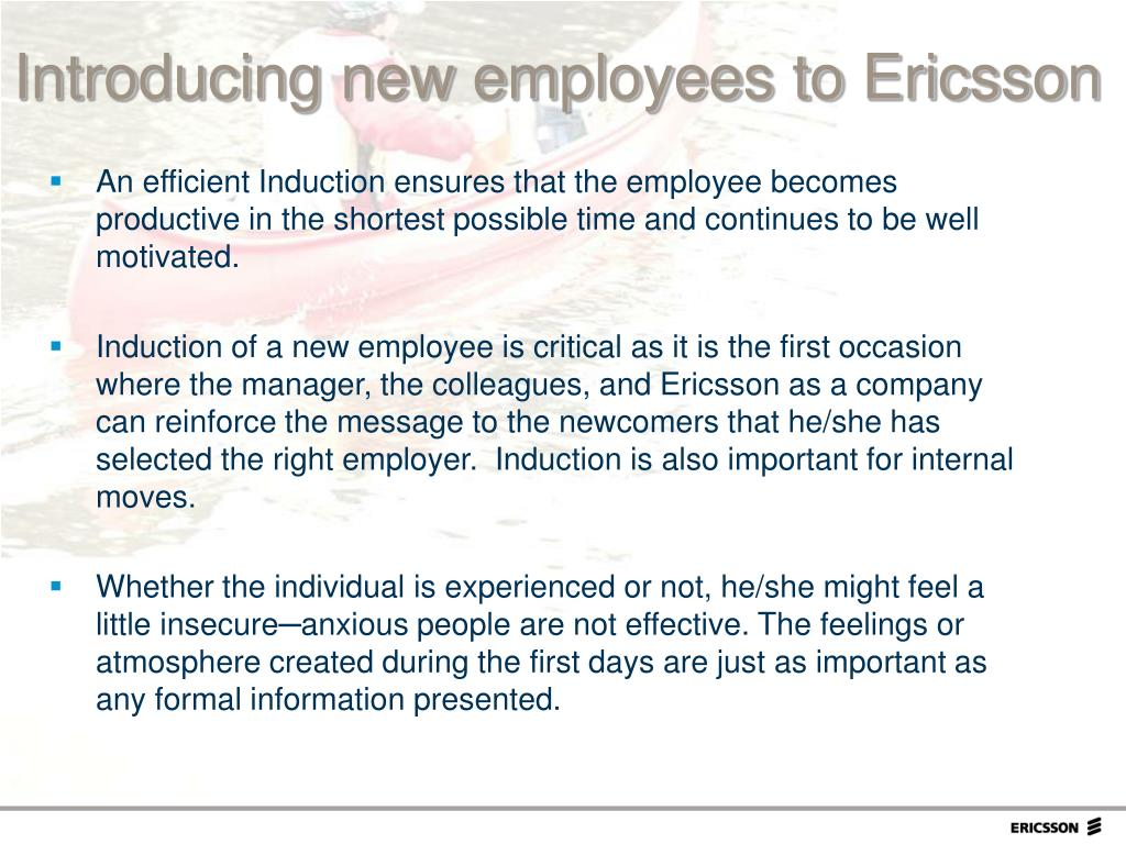 An efficient Induction ensures that the employee becomes productive in the shortest possible time and continues to be well motivated.