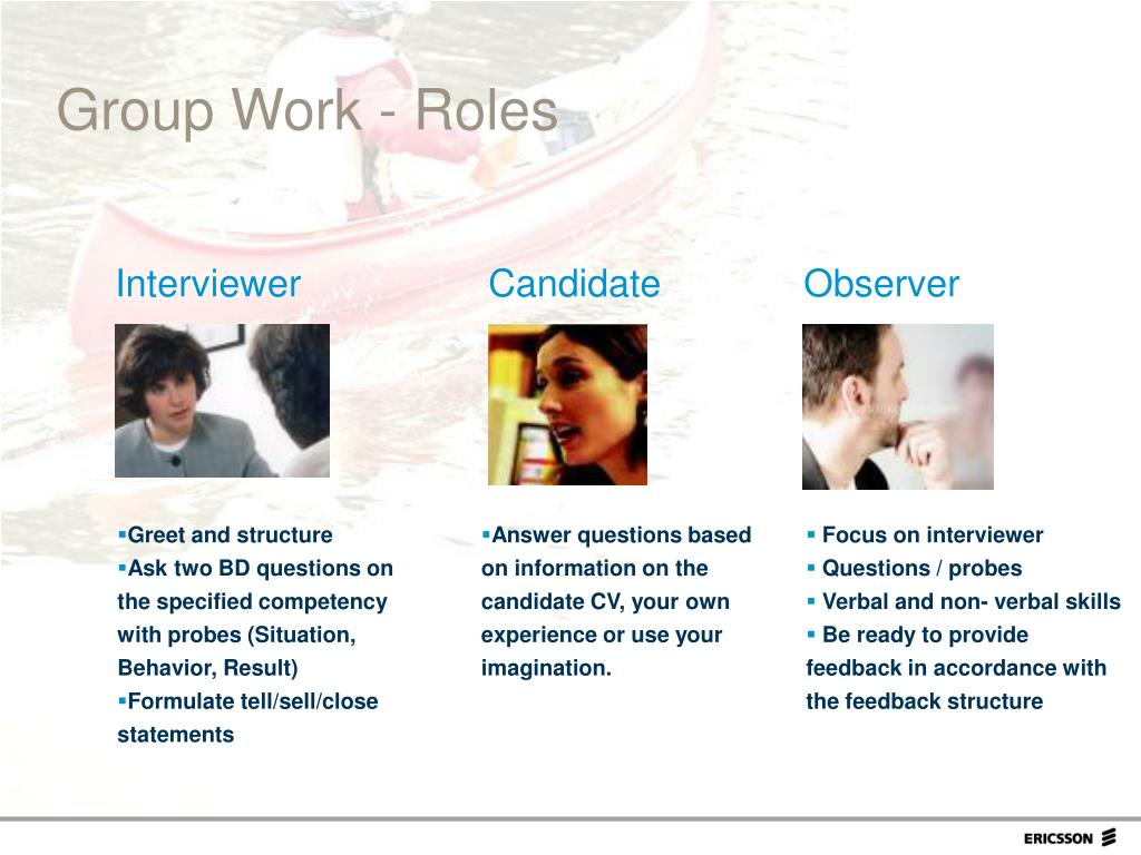 Group Work - Roles