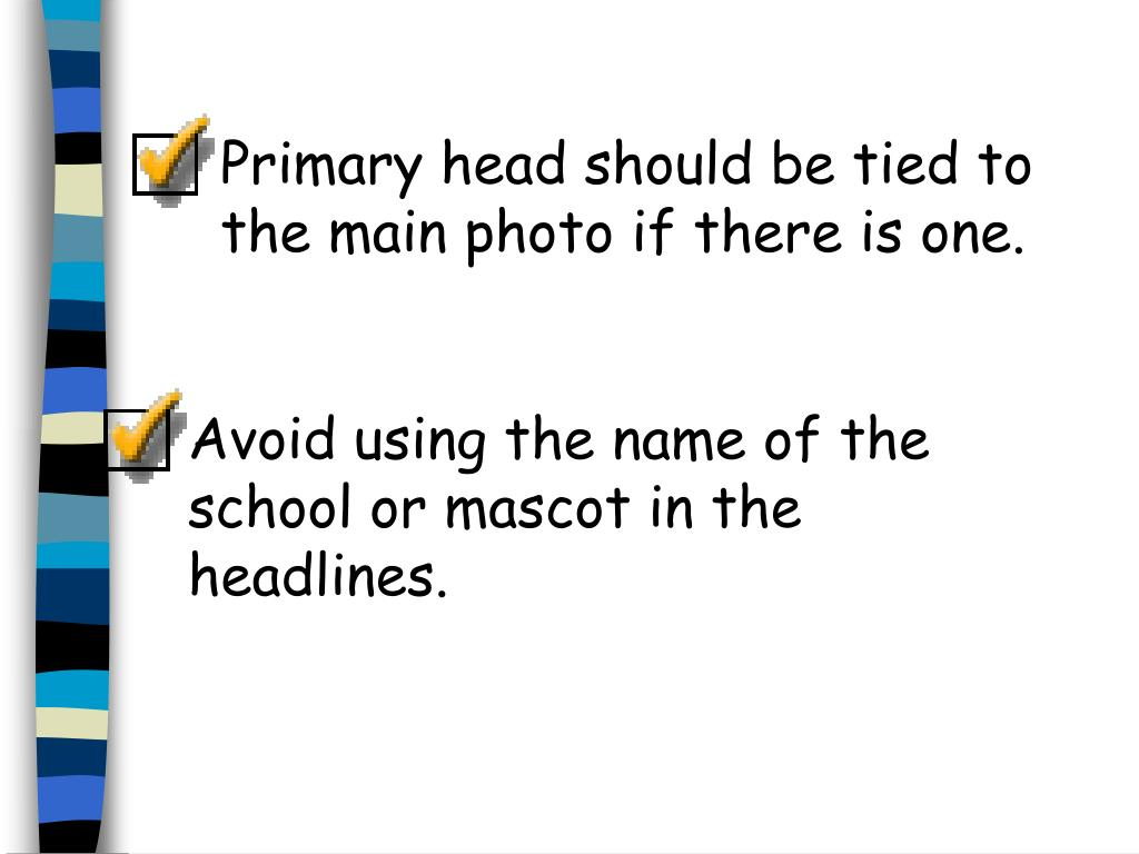 Primary head should be tied to the main photo if there is one.