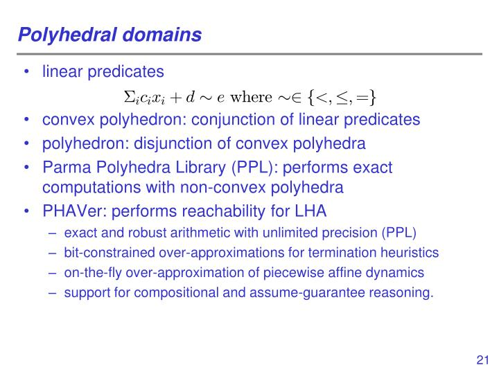 Polyhedral domains